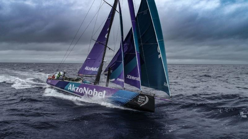 Team Akzonobel has become the first crew in Volvo Ocean Race history to exceed 600 nautical miles (1,111 kilometers) in a 24-hour period - photo © Konrad Frost / Volvo Ocean Race