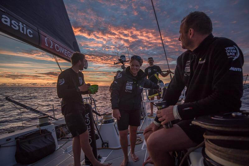 Leg 4, Melbourne to Hong Kong, day 10 on board Brunel . Recovering after a hard night in the doldrums. - photo © Yann Riou / Volvo Ocean Race