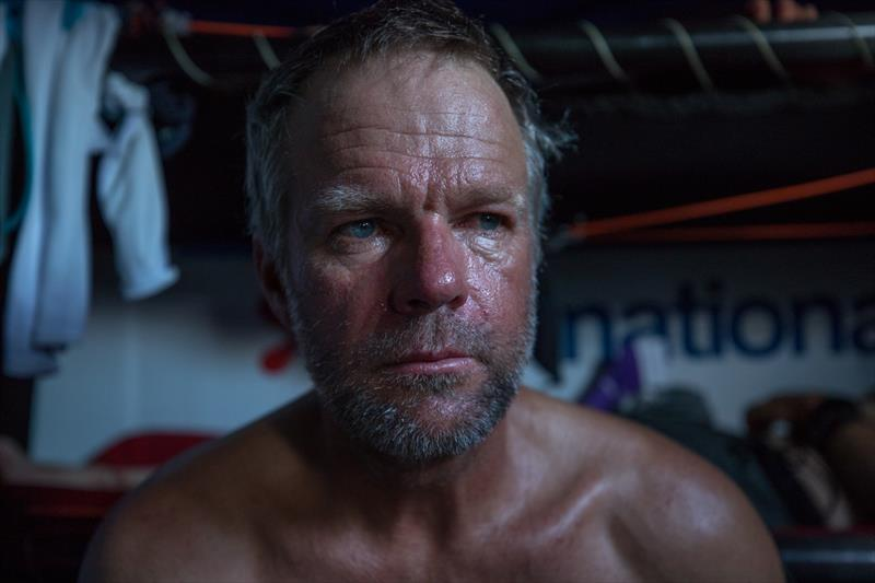 Facing reality - Chris Nicholson, Leg 4, Melbourne to Hong Kong, day 14. Onboard Azkonobel in the South Pacific near Challenger Deep. - photo © Sam Greenfield / Volvo Ocean Race