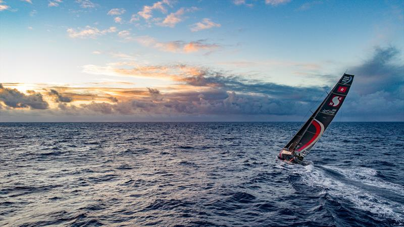 Leg 6 to Auckland, day 07 on board Sun hung Kai / Scallywag. Beautiful sunrise for beautiful results, the southern route paid off. 12 February,  2018 - photo © Jeremie Lecaudey / Volvo Ocean Race