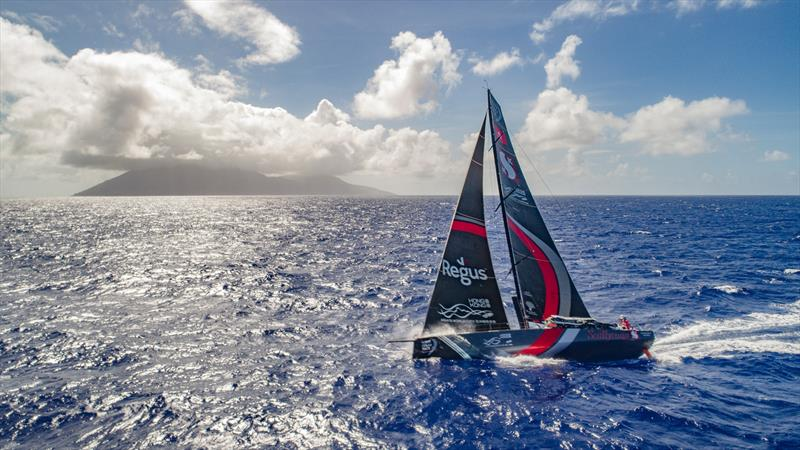 Leg 6 to Auckland, Day 07 on board Sun hung Kai / Scallywag. Islands. Drone shots. Crossing path with USA territory islands, looked like a small volcano from the boat.13 February, . - photo © Jeremie Lecaudey / Volvo Ocean Race