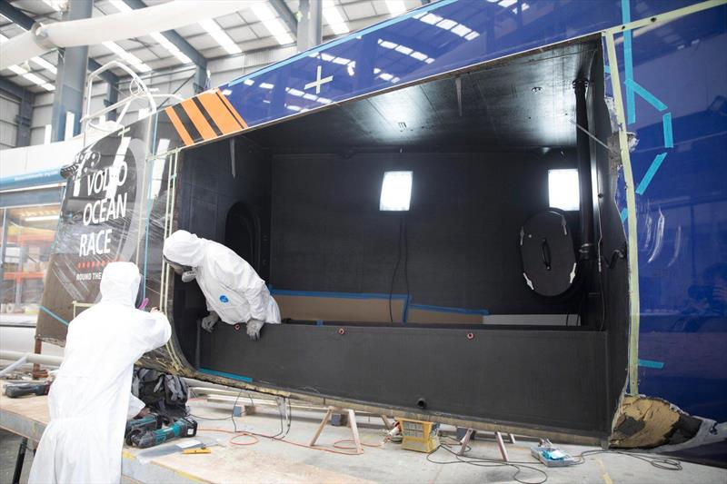 Vestas 11th Hour Racing under repair in the Yachting Developments Ltd facility in Auckland - photo © Vestas 11th Hour Racing