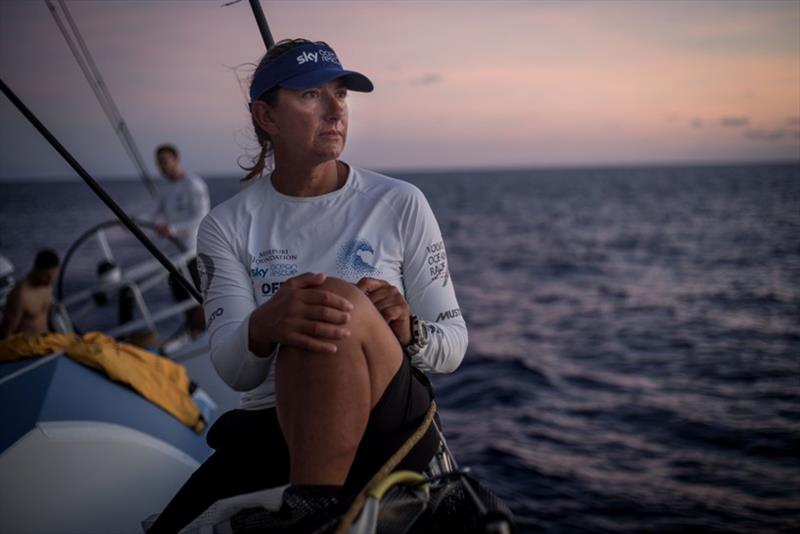 Volvo Ocean Race Leg 6 to Auckland, day 16 on board Turn the Tide on Plastic. Skipper Dee Caffari and her team sit in the lead position with only a few more days to go. It will be a close race.21 February - photo © James Blake / Volvo Ocean Race