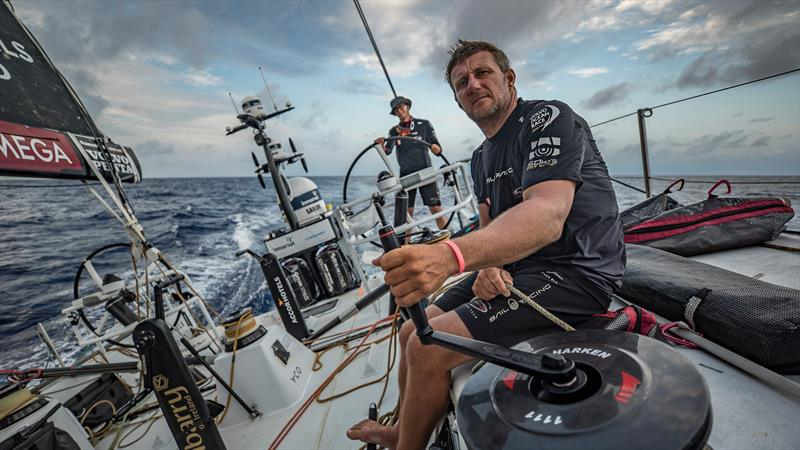 Leg 6 to Auckland, day 16 on board Sun hung Kai / Scallywag. John Fisher at sunset. 23 February, . - photo © Jeremie Lecaudey / Volvo Ocean Race