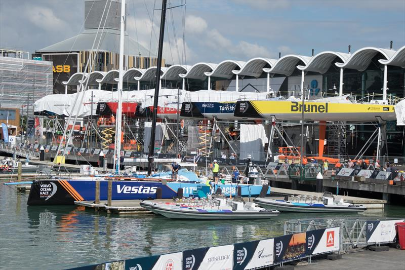 Vestas 11th Hour Racing rigging and doing final preparations before trialling in Auckland's Viaduct Basin - photo © Kate Wilson / Vestas 11th Hour Racing