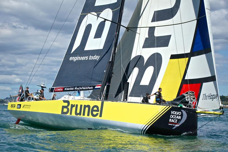 Team Brunel (Peter Burling) - Volvo Ocean Race - Auckland Stopover In Port Race, Auckland, March 10, - photo © Richard Gladwell