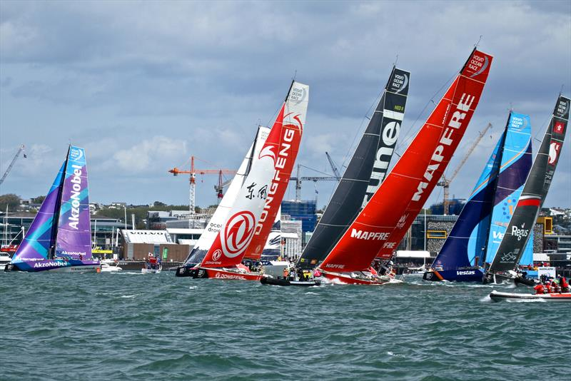 Start - Volvo Ocean Race - Auckland - Leg 7 Start - Auckland - March 18, photo copyright Richard Gladwell taken at  and featuring the Volvo One-Design class