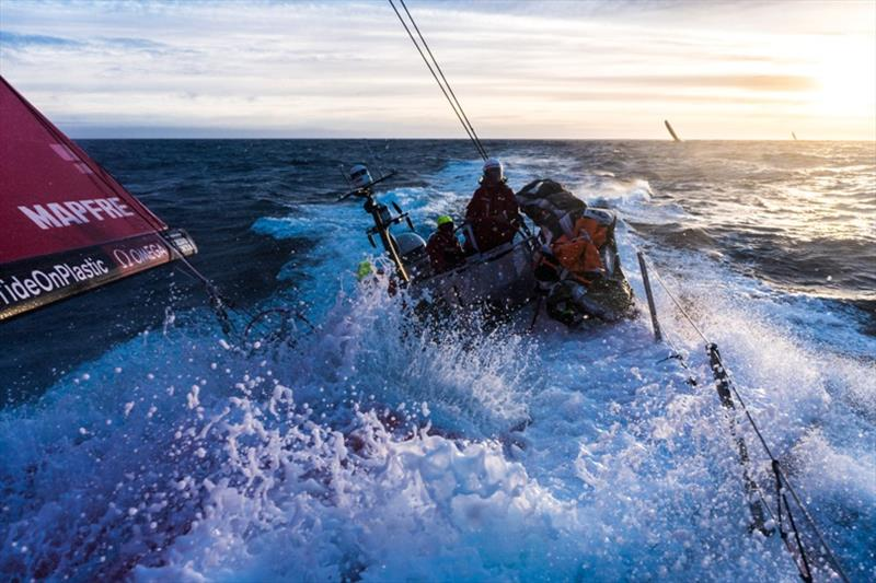 Volvo Ocean Race Leg 7 from Auckland to Itajai, day 05 on board MAPFRE, sunset time. 22 March - photo © Ugo Fonolla / Volvo Ocean Race