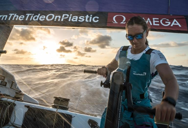 Volvo Ocean Race - Leg 02, Lisbon to Cape Town, day 9, on board AkzoNobel. Emily Nagel- the youngest female sailor in the volvo on the eve of her first equator crossing - photo © James Blake / Volvo Ocean Race