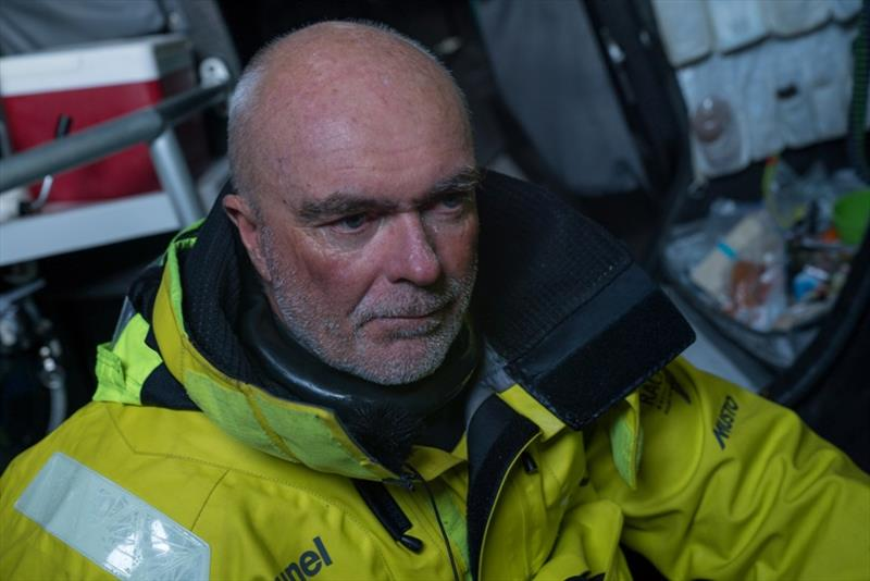 Volvo Ocean Race Leg 7 from Auckland to Itajai, day 08 on board Brunel. Boiuwe Bekking cold after 4 hours on deck - photo © Yann Riou / Volvo Ocean Race