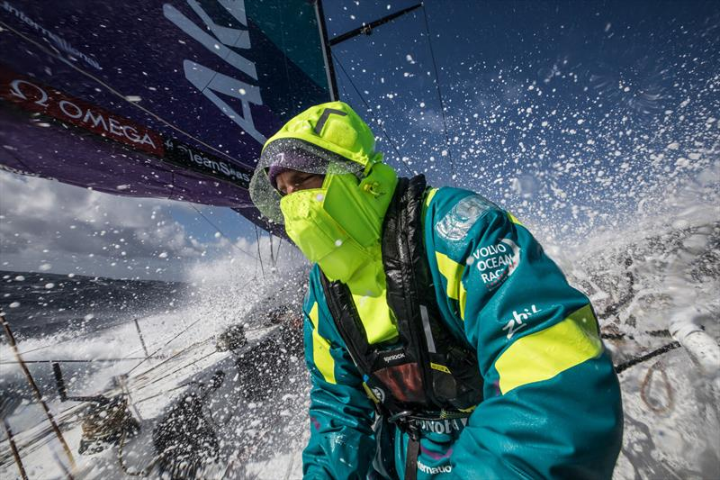 Leg 7 from Auckland to Itajai, day 9 on board AkzoNobel. 25 March, . Simeon Tienpoint. - photo © James Blake / Volvo Ocean Race
