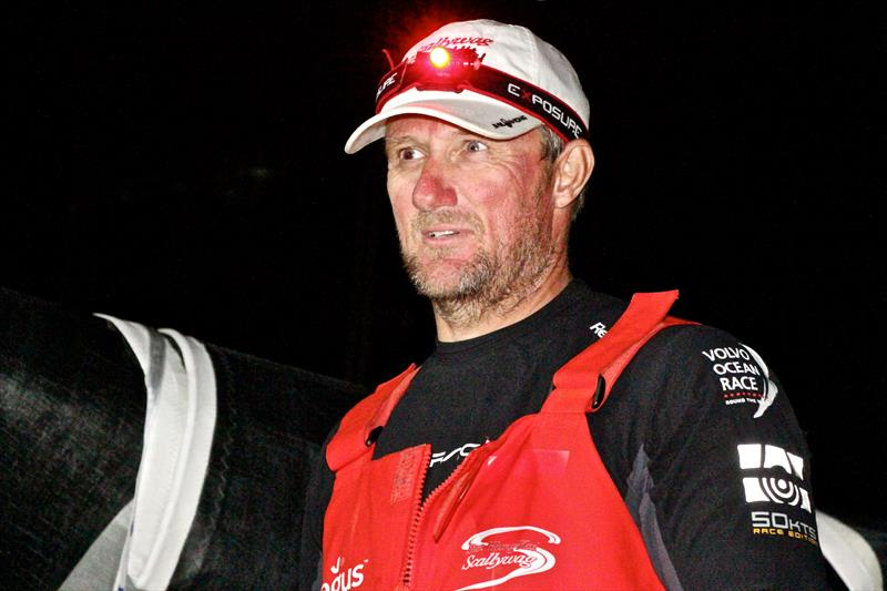 John Fisher pictured at the finish of Leg 6 of the Volvo Ocean Race. - photo © Richard Gladwell