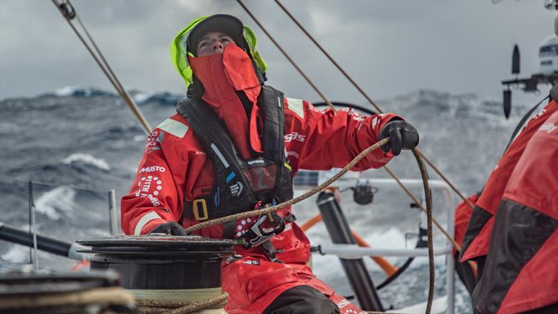 Leg 7 from Auckland to Itajai, day 10 on board Vestas 11th Hour. 26 March, . Stacey Jackson. - photo © Jeremie Lecaudey / Volvo Ocean Race