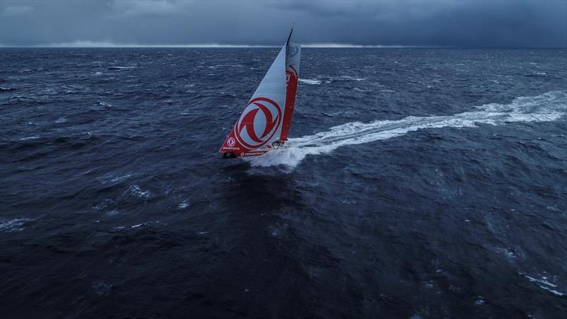 Leg 7 from Auckland to Itajai, day 13 on board Dongfeng. Drone shot in the southern ocean. 28 March, . - photo © Martin Keruzore / Volvo Ocean Race