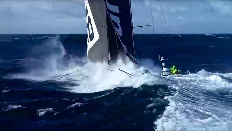 Team Brunel digs in hard in the final miles before rounding Cape Horn - photo © Yann Riou/Team Brunel