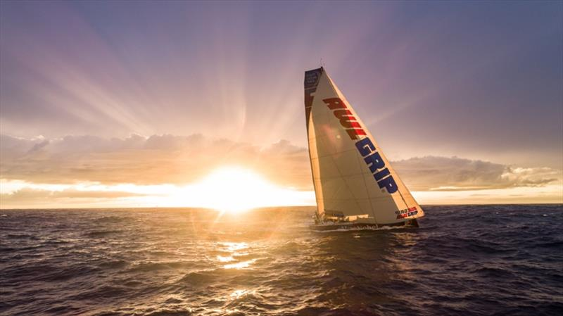 Volvo Ocean Race Leg 7 from Auckland to Itajai, day 14 on board AkzoNobel. The A3 at sunset, a rare sight. photo copyright James Blake / Volvo Ocean Race taken at  and featuring the Volvo One-Design class