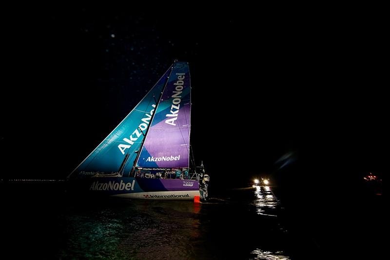 Volvo Ocean Race Leg 7 from Auckland to Itajai - Team AkzoNobel arrivals - photo © Pedro Martinez / Volvo Ocean Race