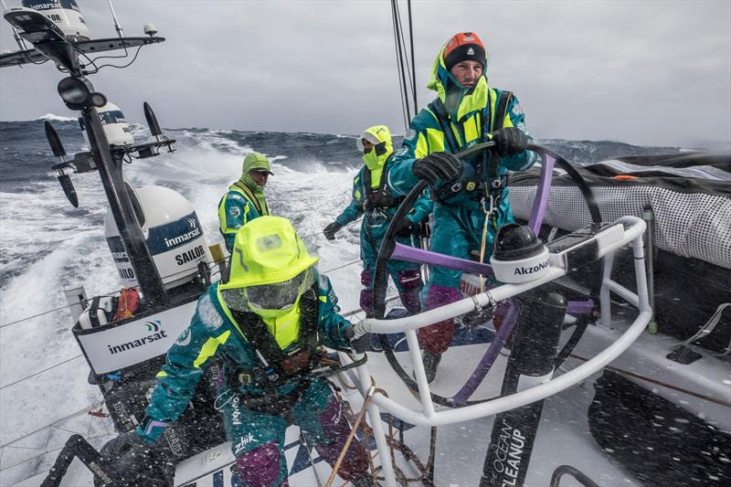 Leg 7 from Auckland to Itajai, day 7 on board AkzoNobel. 23 March, . Nicolai Sehested- Drive it like you stole it. - photo © James Blake / Volvo Ocean Race