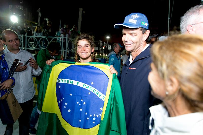 Brazilian sailing royalty - Martine and Torben Grael - Leg 7 from Auckland to Itajai. Arrivals in Itajai. 05 April, . - photo © Pedro Martinez / Volvo Ocean Race