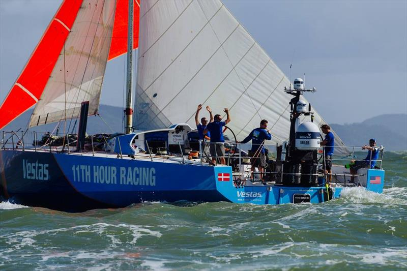 Vestas 11th Hour racing arrives in Itajai, April 16, 2018 - photo © Vestas 11th Hour Racing