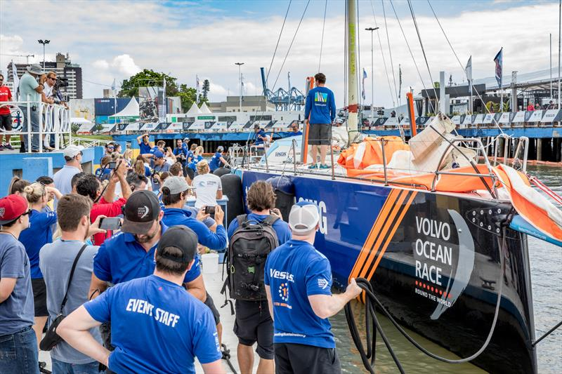 Vestas 11th Hour arrives in Itajai. 16 April, 2018. Leg 7 from Auckland to Itajai. - photo © Ainhoa Sanchez / Volvo Ocean Race
