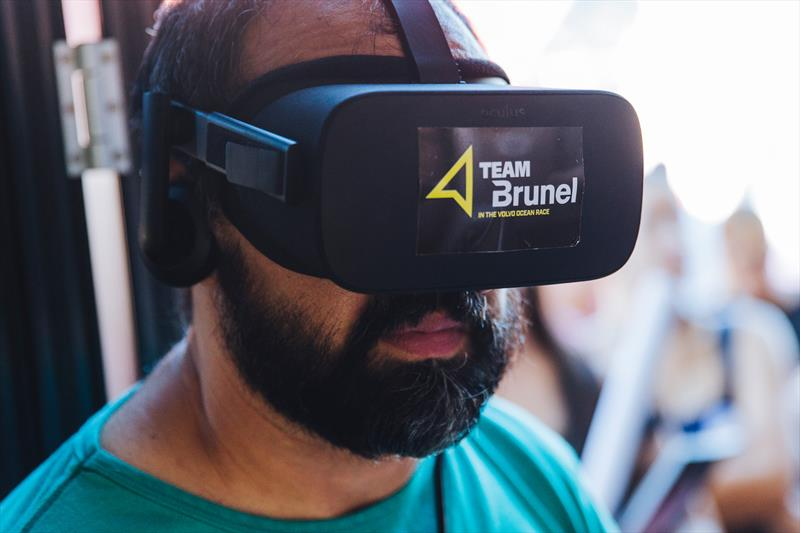 360VR is fast becoming the new fan experience for watching yacht racing - Leg 8, Itajai stopover. Race Village. Brunel Team Base. 08 April, . - photo © Pedro Martinez / Volvo Ocean Race