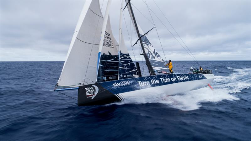 Leg 6 to Auckland, day 6 on board Turn the Tide on Plastic. Drone shots. 12 February,. - photo © James Blake / Volvo Ocean Race