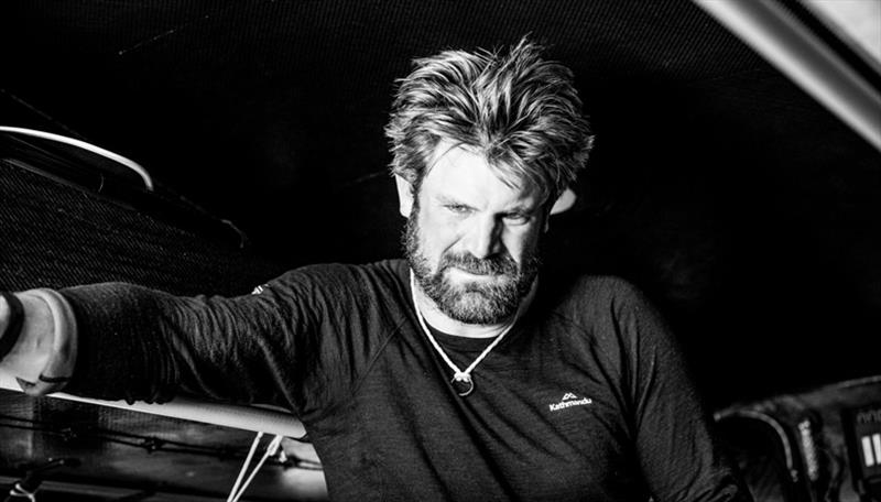 Simeon Tienpont just awake and about to go on. watch - Volvo Ocean Race Leg 8 from Itajai to Newport, Day 14, on board AkzoNobel. - photo © Brian Carlin / Volvo Ocean Race