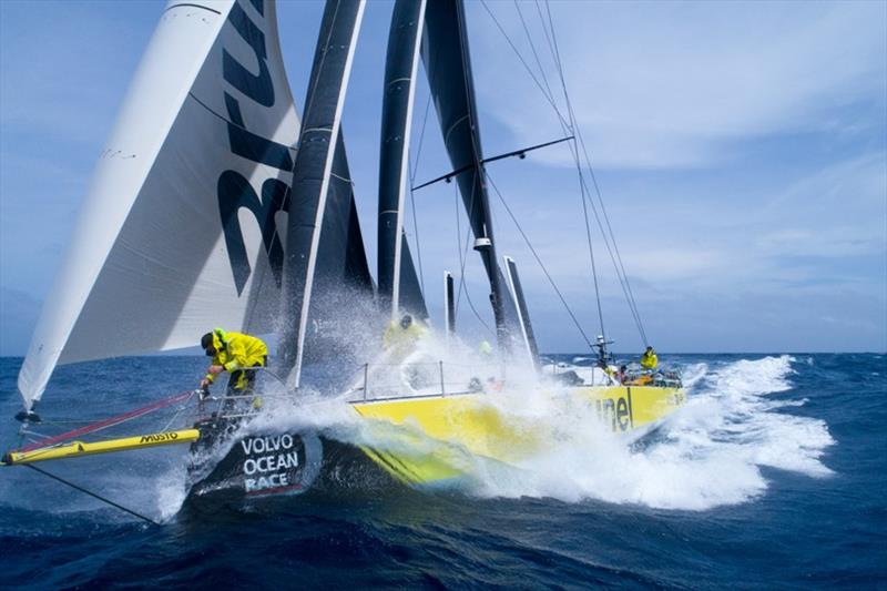 Volvo Ocean Race Leg 8 from Itajai to Newport, day 15, on board Brunel. Peeling in the North Atlantic one day out from Newport. photo copyright Sam Greenfield / Volvo Ocean Race taken at  and featuring the Volvo One-Design class