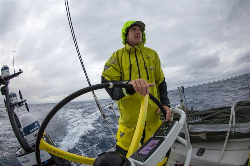 Volvo Ocean Race Leg 9, from Newport to Cardiff, day 3, on board Brunel. Peter Burling at the helm. - photo © Sam Greenfield / Volvo Ocean Race