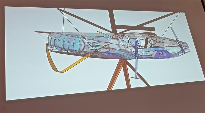 The addition of a rudder aileron reduces the need for water ballast in the aft ranks - Early design concept for the Volvo Ocean Race verson of the IMOCA60  - photo © Sail-World