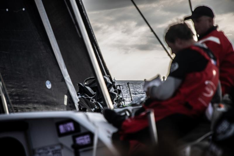 Volvo Ocean Race Leg 10, from Cardiff to Gothenburg, day 2, on board Sun Hung Kai / Scallywag. Fastnet Rock on the bow. - photo © Konrad Frost / Volvo Ocean Race