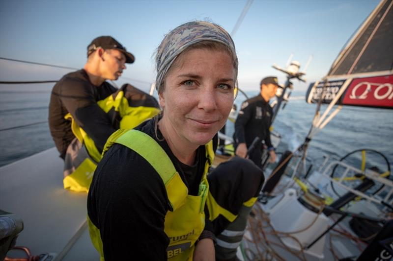 Volvo Ocean Race Leg 10, from Cardiff to Gothenburg, day 01, Leg Start on board Brunel. Nina Curtis. - photo © Sam Greenfield / Volvo Ocean Race