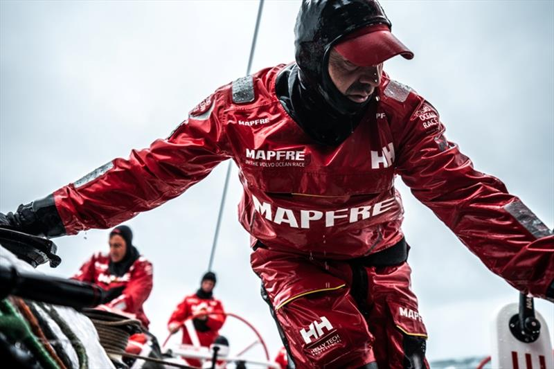 Volvo Ocean Race Leg 10, from Cardiff to Gothenburg, day 04, on board MAPFRE, Xabi Fernandez during a peeling. - photo © Ugo Fonolla / Volvo Ocean Race