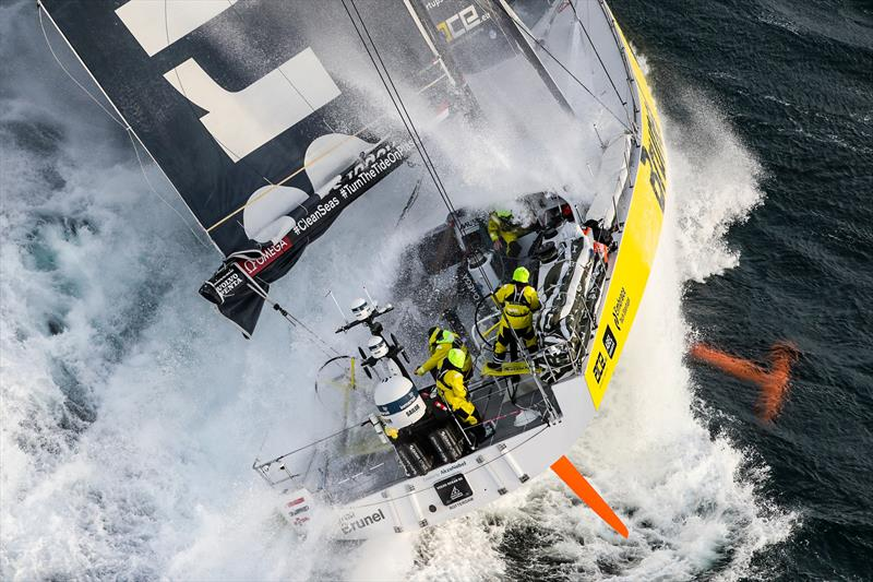 Brunel - Leg 11, from Gothenburg to The Hague, day 03. Heli LIVE as the fleet blast south, eyes set on The Hague. 23 June, . - photo © Ainhoa Sanchez / Volvo Ocean Race