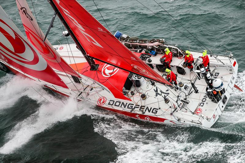 Dongfeng - Leg 11, from Gothenburg to The Hague, day 04. Heli LIVE as the fleet blast south, eyes set on The Hague. 24 June, . - photo © Ainhoa Sanchez / Volvo Ocean Race