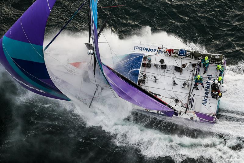 Leg 11, from Gothenburg to The Hague, day 03. Heli LIVE as the fleet blast south, eyes set on The Hague. 23 June, . - photo © Ainhoa Sanchez / Volvo Ocean Race