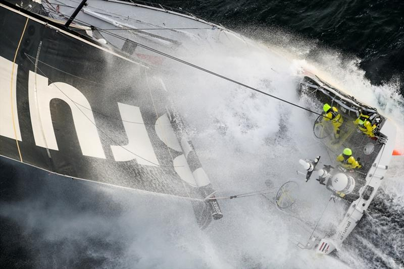 Volvo Ocean Race Leg 11, from Gothenburg to The Hague, day 03. Heli LIVE as the fleet blast south, eyes set on The Hague. 23 June - photo © Ainhoa Sanchez / Volvo Ocean Race