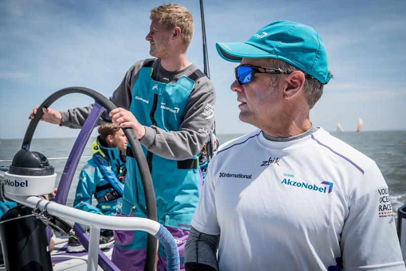 Nicolai Sehested and Chris Nicholson aboard Team AkzoNobel in the 2017/18 Volvo Ocean Race are seeking sponsors for a third round the world race - photo © James Blake / Volvo Ocean Race