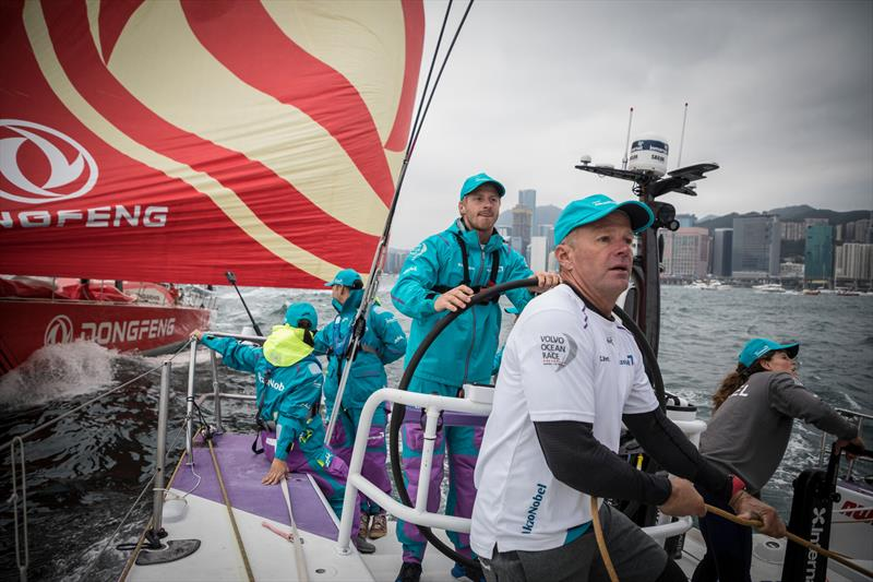 HGC In-Port Race onboard team AkzoNobel in Hong Kong. 27 January, . - photo © Brian Carlin / Volvo Ocean Race