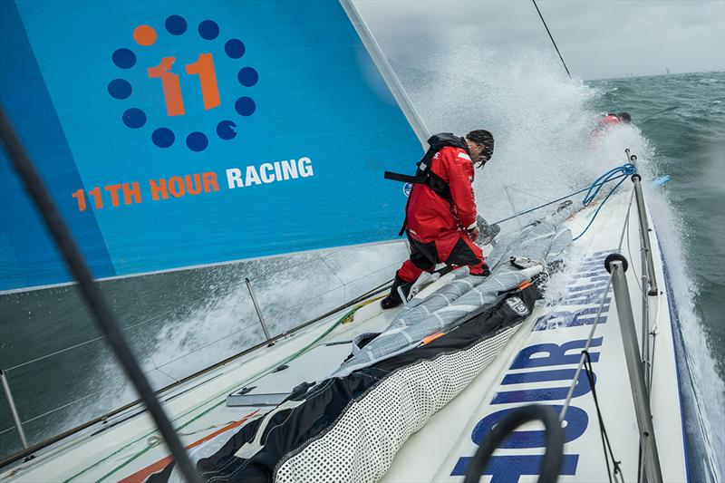 Leg Zero, Around the Island Race: onboard Vestas 11th Hour Racing. - photo © Martin Keruzore / Volvo Ocean Race