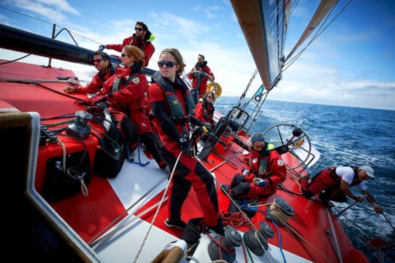 The diverse team on board the French VO60 Team Jokolia promoting the message 'Difference is a Strength' through their  Rolex Fastnet Race campaign - photo © Ministe`res sociaux DICOM Arnaud Pilpre´ Sipa