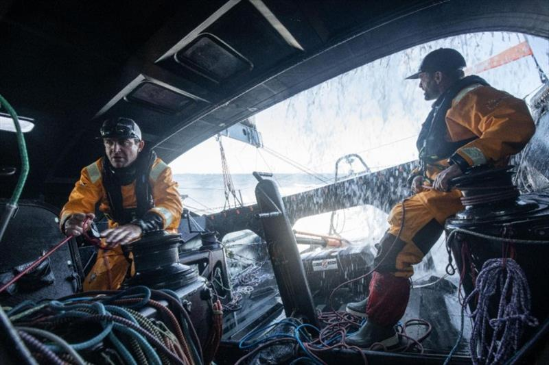 Onboard 11th Hour Racing during the 2019 Defi Azimut 48-hour race. Charlie Enright and Pascal Bidégorry were co-skippers in the 500-mile double-handed race off the coast of Lorient, France. - photo © Martin Karuzoré / 11th Hour Racing