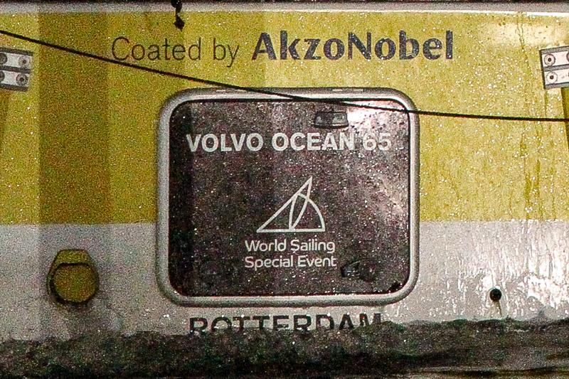 Each boat in the 2017/18 Volvo Ocean Race carried the logo confirming that they were participating as part of a World Sailing Special Event - February 2018 - photo © Richard Gladwell