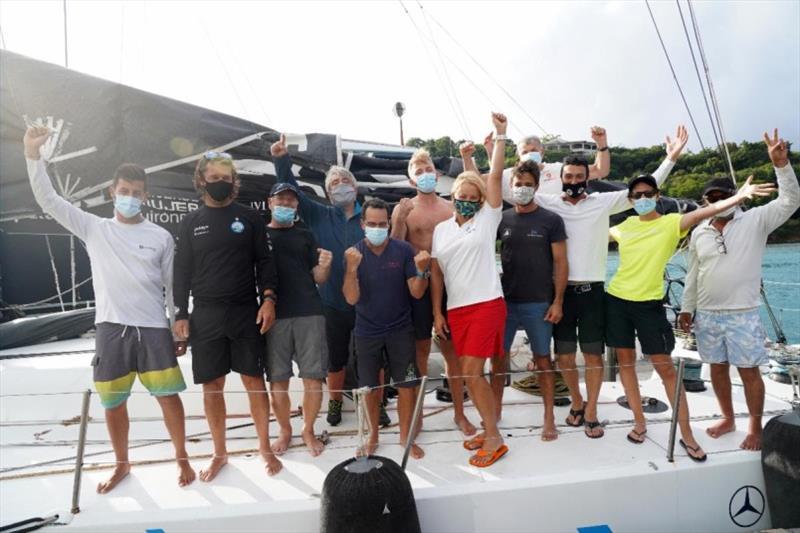 RORC Transatlantic Race: Green Dragon and Palanad 3 scorch into Antigua