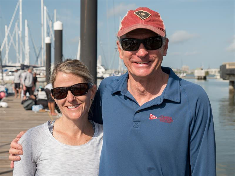 Jo & Greg Fisher at 2018 Sperry Charleston Race Week - photo © Larry Monteith