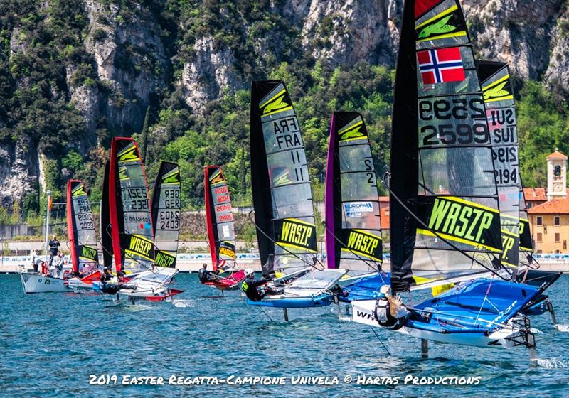 WASZPs at the Campione Univela Easter Regatta