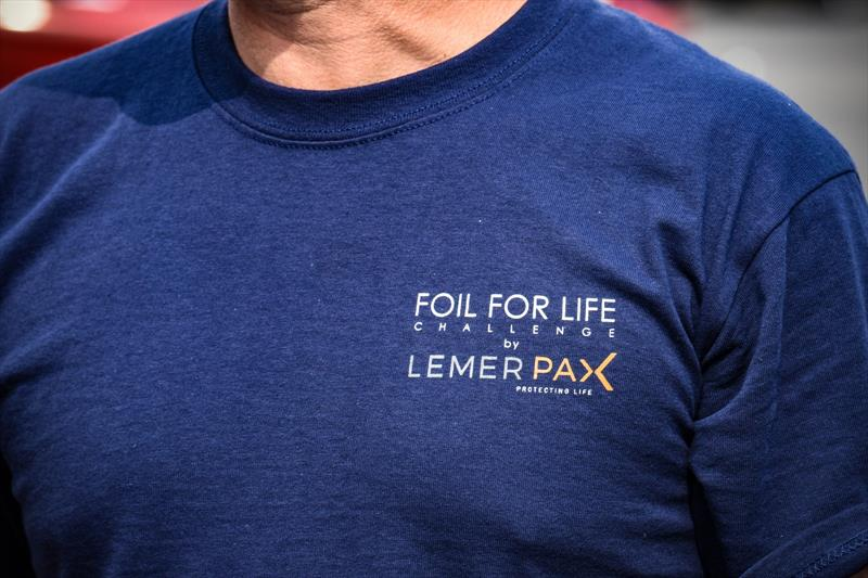 The Foil for Life Challenge by Lemer Pax sets off from Lymington - photo © James Tomlinson