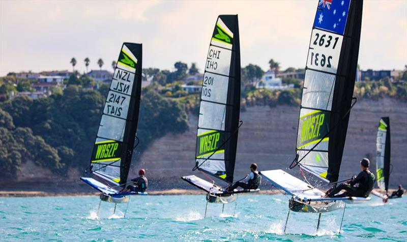 Several international sailors competed in the 2019 WASZP NZ Nationals at Murrays Bay SC - March 2019 photo copyright Rachel von Zalinski taken at Murrays Bay Sailing Club and featuring the WASZP class
