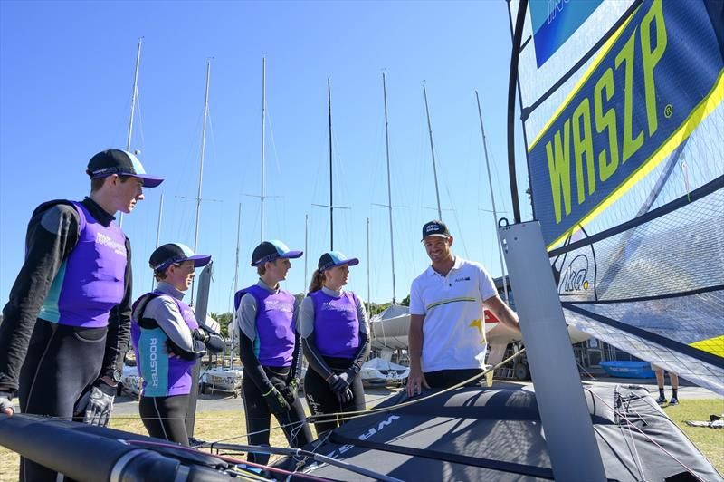 SailGP Inspire Learning Camp - Tom Slingsby - photo © Michelle Fowler